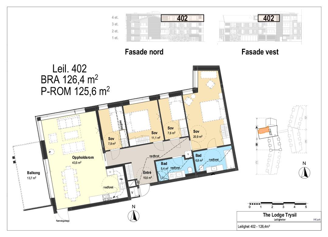 The Lodge Trysil - Leilighet 402