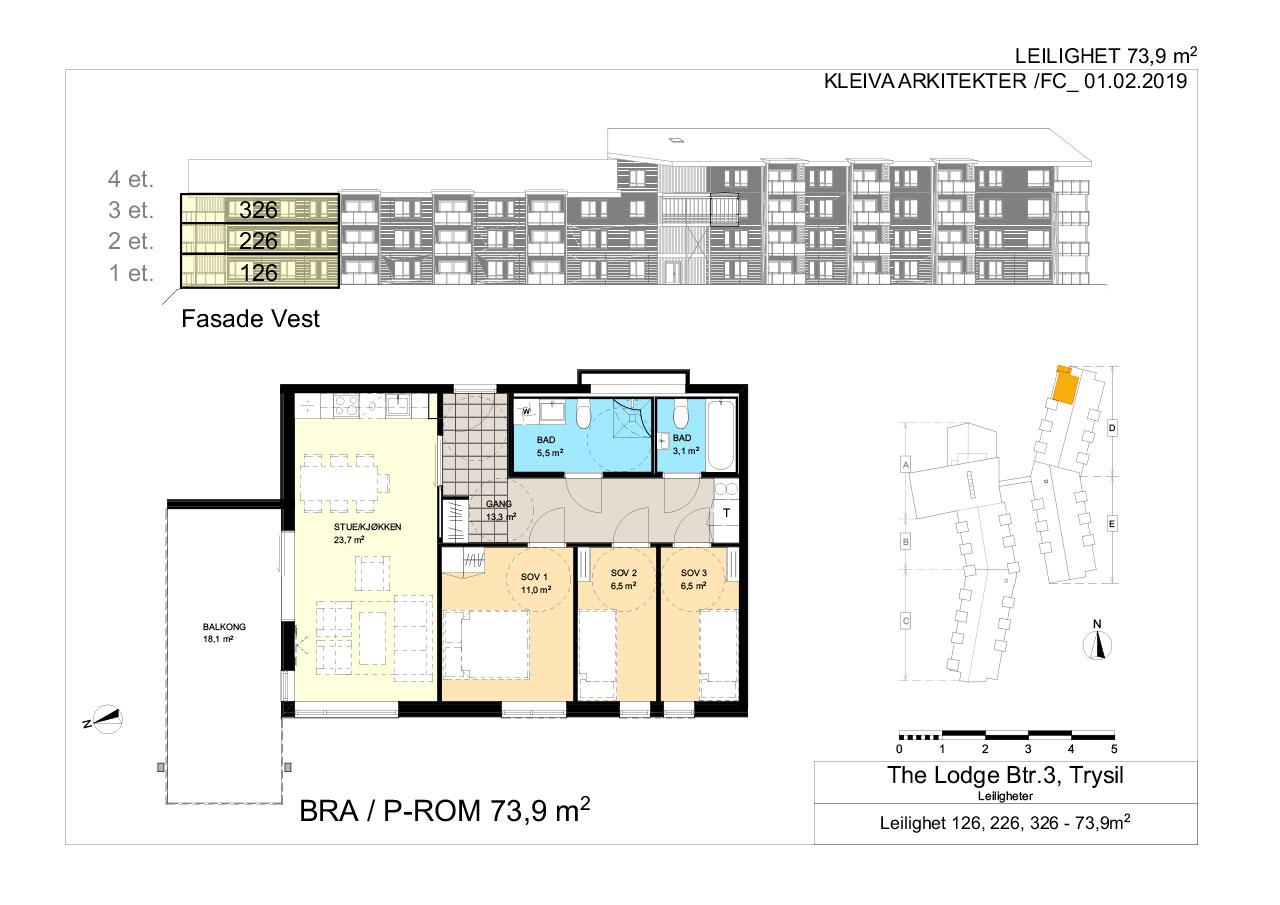 The Lodge Trysil - Leilighet 101,104,106, 201, 206, 208, 301, 306, 308